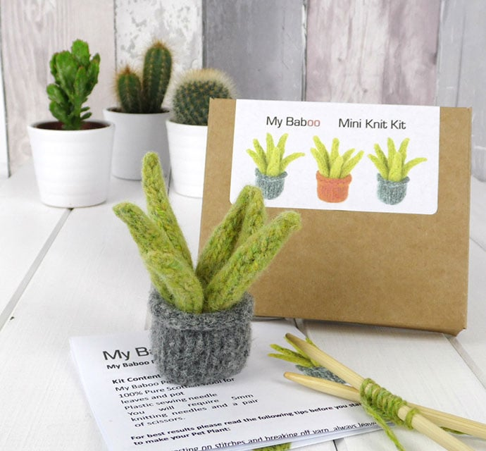 knitted plant craft kit