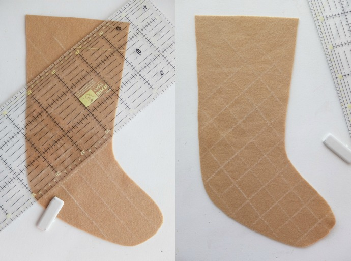 DIY Ice Cream Cone Christmas Stocking with Free Pattern | My Poppet ...