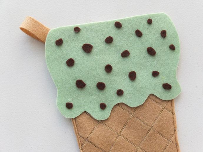 DIY Ice Cream Cone Christmas Stocking mypoppet.com.au