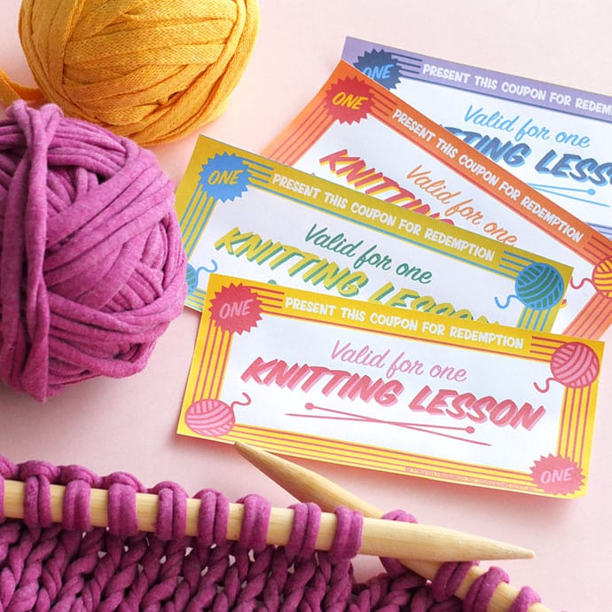 Knitting lesson gift certificate mypoppet.com.au