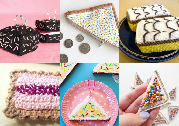 Australia Day Craft - fairy bread, lamington, cakes, vanilla slic, play food to make mypoppet.com.au