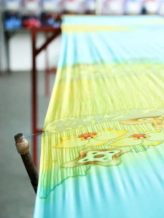 batik cloth painting sabah malaysia