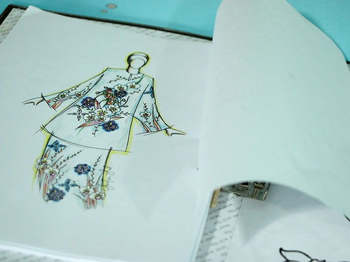 batik fashion illustration