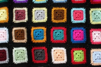 lern to crochet granny square blanket