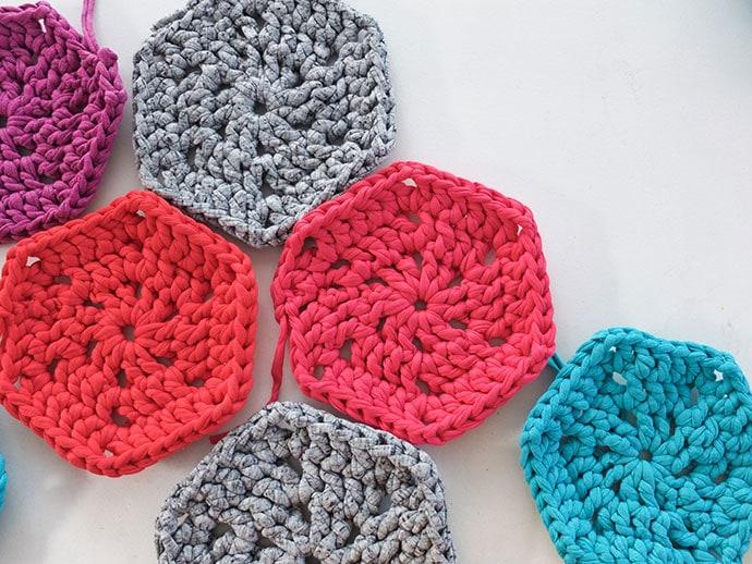 How to crochet a hexagon shape