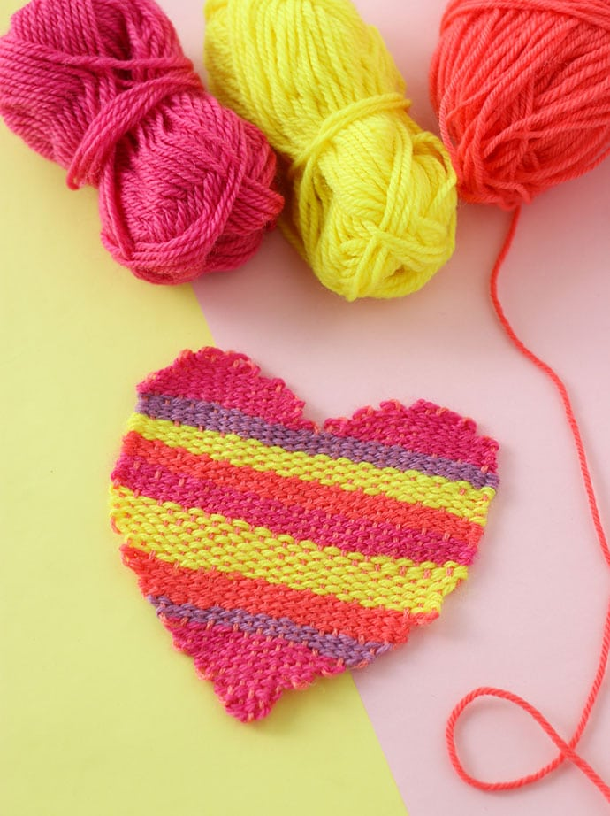 How To Weave A Heart Shape Tapestry My Poppet Makes
