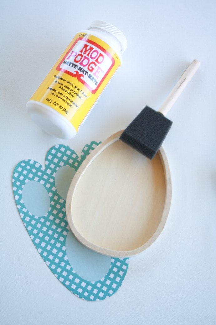 Supplies glue and sponge brush