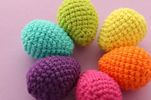 Crochet Easter Eggs in Cotton Yarn