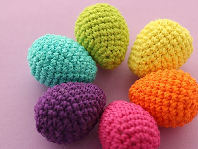Crochet Easter Eggs In Cotton Yarn My Poppet Makes
