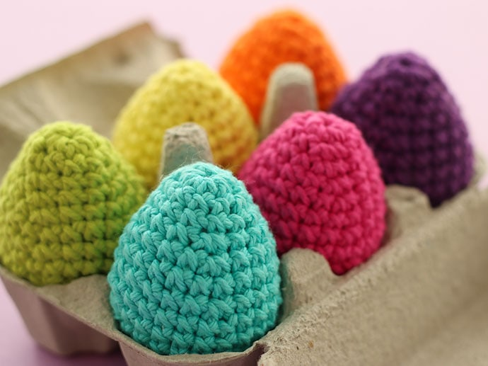 Rainbow crochet easter eggs - mypoppet.com.au