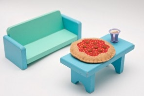 Doll house miniature felt pizza - DIY instructions - mypoppet.com.au