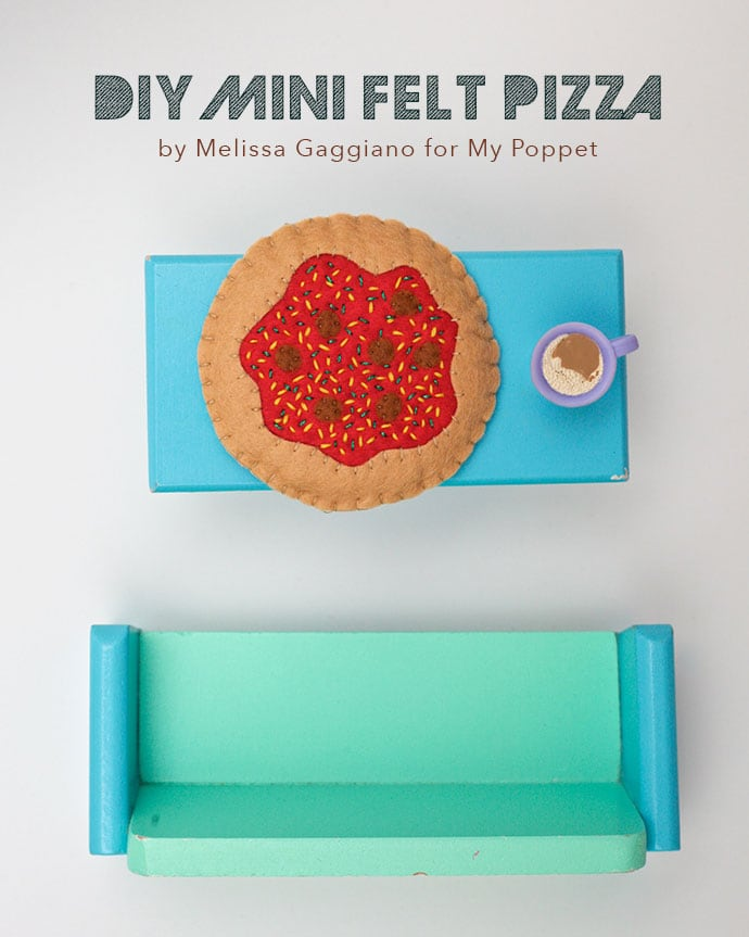 Diy Mini Felt pizza pattern and instructions - mypoppet.com.au