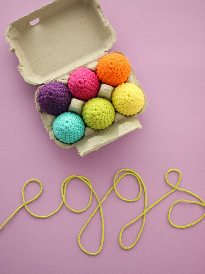 how to make crochet easter eggs -mypoppet.com.au