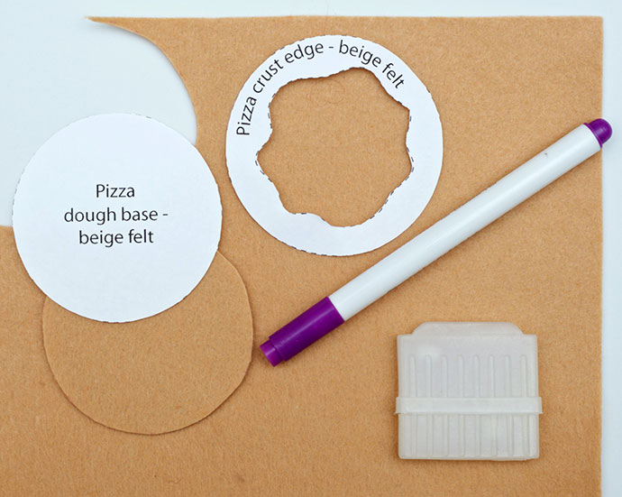 DIY Mini Felt Pizza - mypoppet.com.au