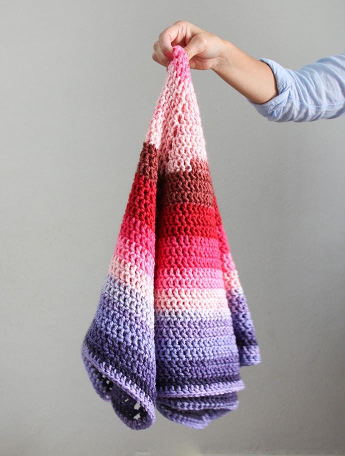 Ombre hexagon blanket crochet pattern using Caron Cake- mypoppet.com.au