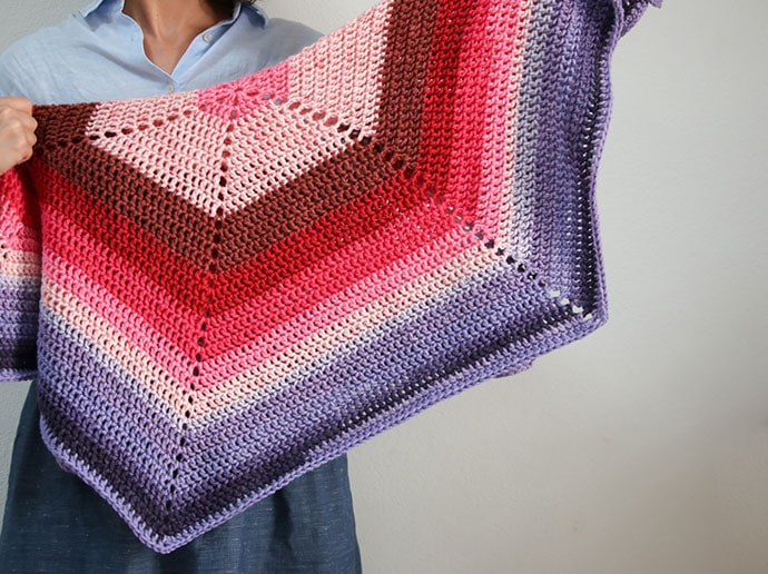 Ombre hexagon blanket free crochet pattern - mypoppet.com.au