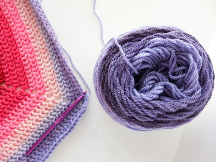 Hexagon crochet blanket pattern