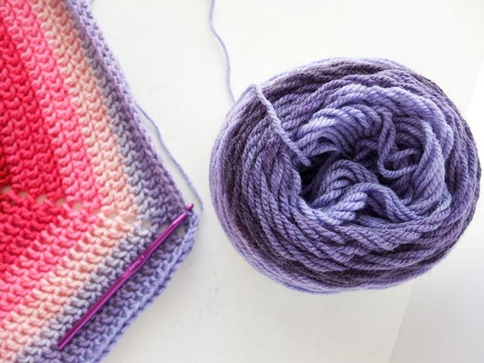 Hexagon crochet blanket pattern