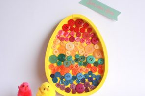 Kids Craft: Easter Egg Button Art