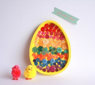 Easter Egg Button Art