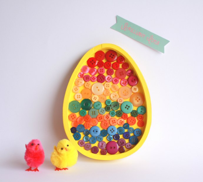All completed Easter Egg Art - Kids Easter Craft