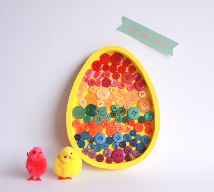 All completed Easter Egg Art - Kids Easter Craft