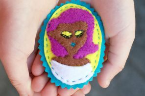 Make to Wear: Felt Cameo Portrait Brooch