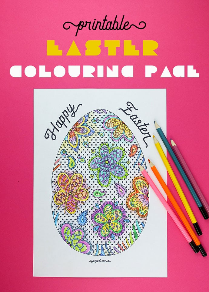 Printable Easter Egg Colouring Page