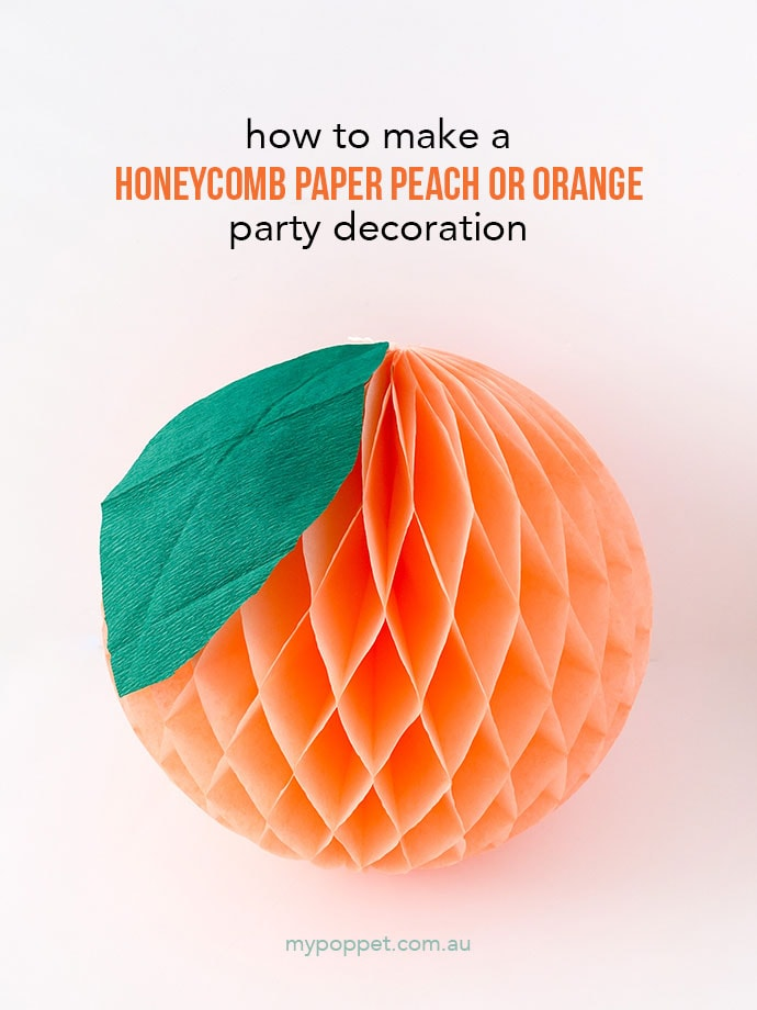 make an orange or peach decoration