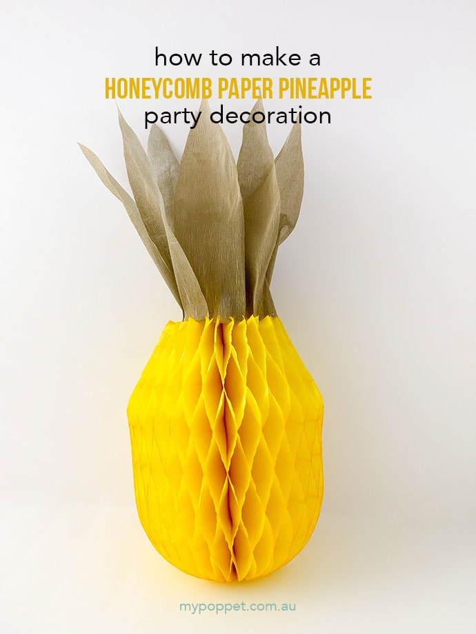 How to make a pineapple fruit party decoration
