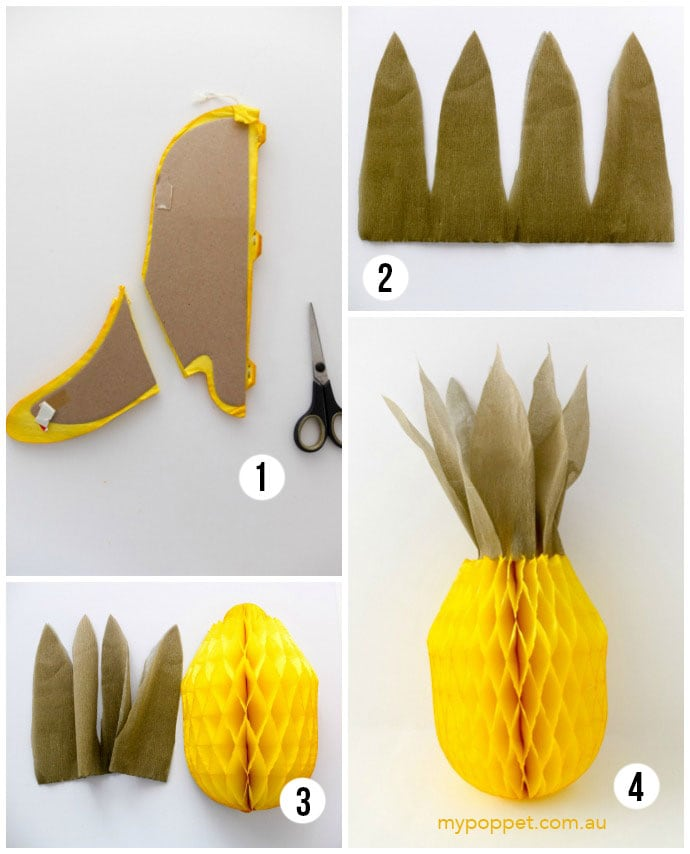 How to make a pineapple decoration