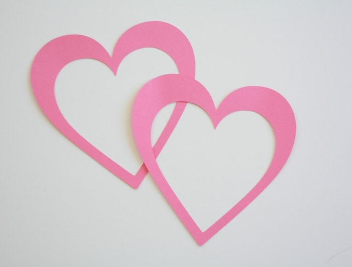 Cut out heart shapes