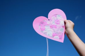 Kids Craft: Mother's Day Tissue Paper Heart