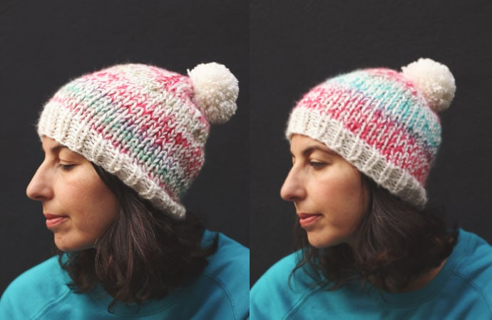 beanie size - knitting pattern