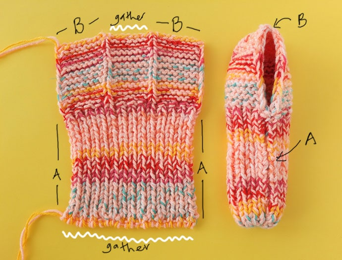 How to assemble knit slippers