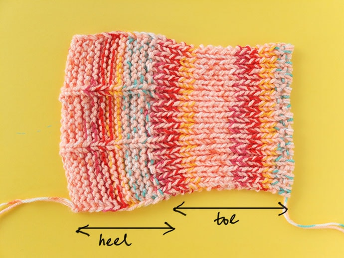 anatomy of a knitted slipper