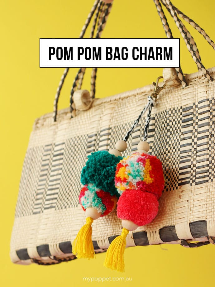How to make a Pompom bag charm - mypoppet.com.au