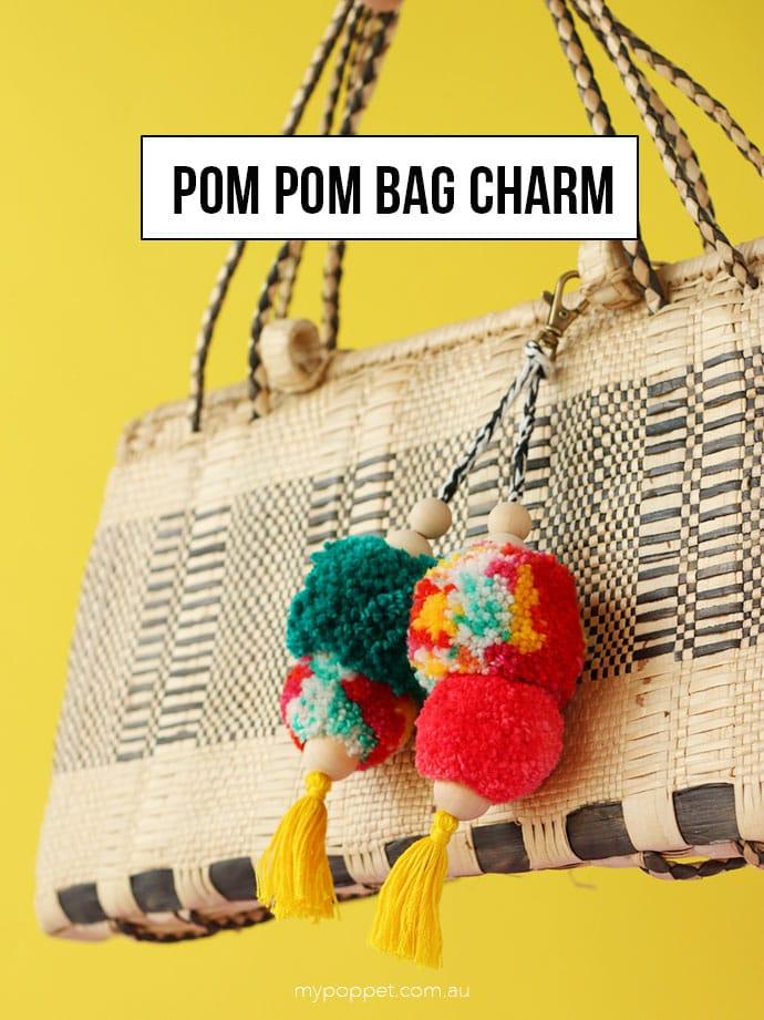 How to make a Pompom bag charm - mypoppet.com.au