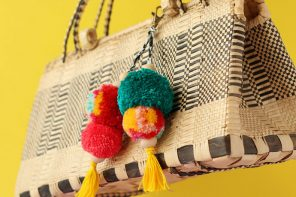 pom pom key ring and bag charm DIY - mypoppet.com.au