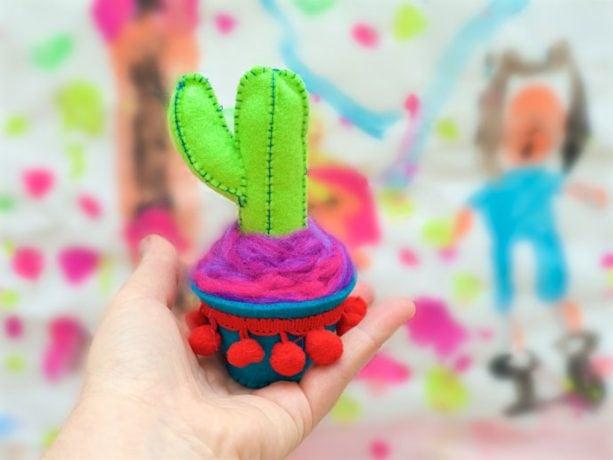Felt Craft: Pop Cactus mypoppet.com.au