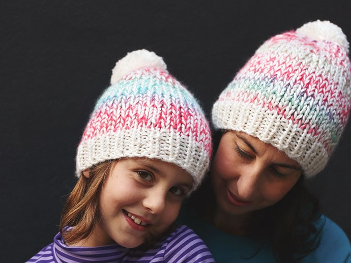 Speckled Beanie Knitting Pattern | My Poppet Makes