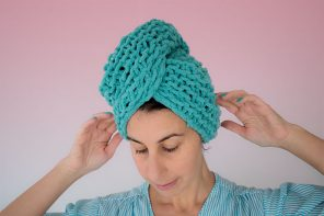 Knitting pattern hair wrap