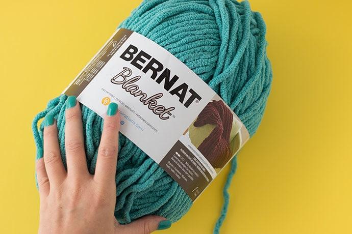 Bernat Blanket yarn - light teal