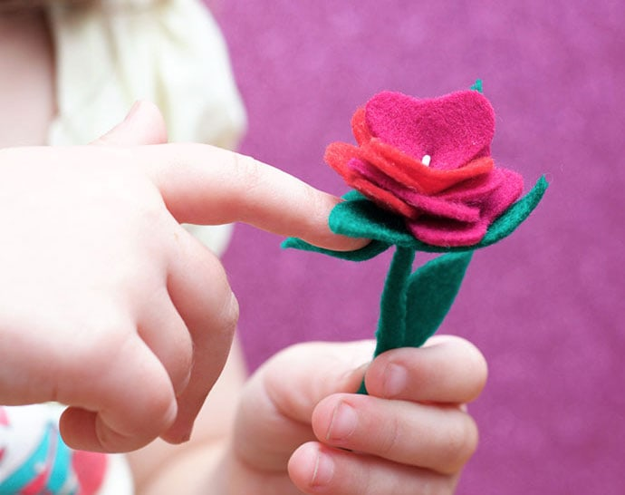 hand made felt rose instructions