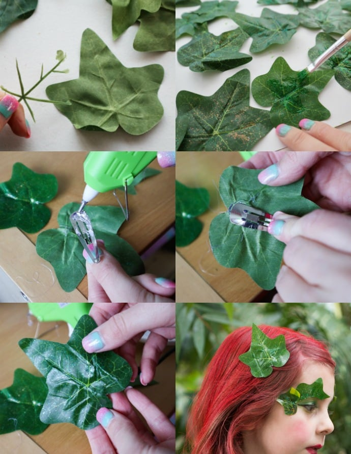 How to make an i'vy leaf hair clip