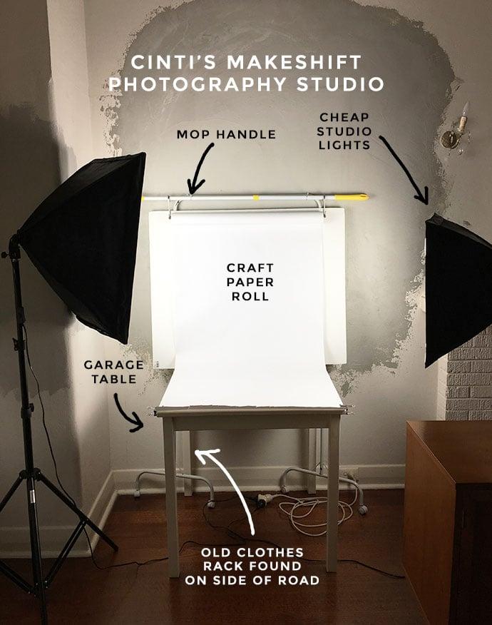 Make shift photography studio
