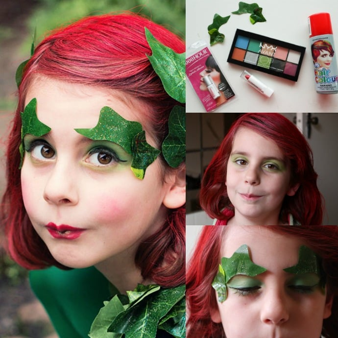 Poison Ivy cosplay makeup