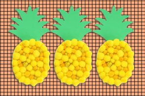 Kids Craft: Pom Pom Pineapple