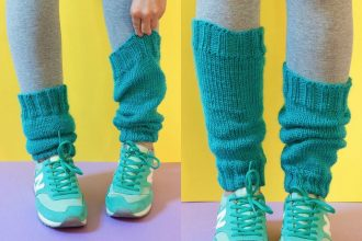 Knitting pattern - Classic Legwarmers - Bernat Satin Yarn Review - mypoppet.com.au