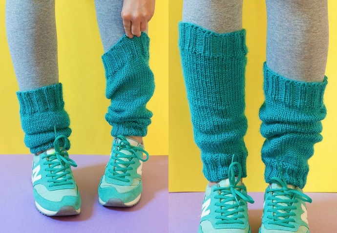 Knitting pattern - Classic Legwarmers - Bernat Satin Yarn Review - mypoppet.com.au